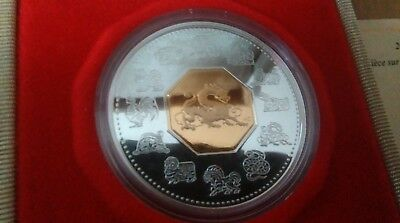 2000 Canada Silver Proof 15 Dollars Coin Lunar Year Of The Dragon Case & COA