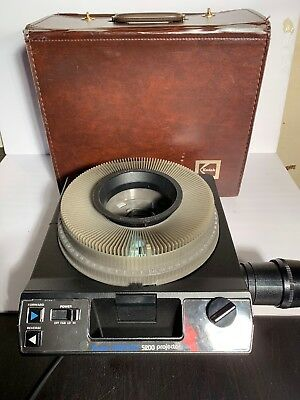 Kodak Carousel Slide Projector 5200 Side Viewer Manual Remote Tray TESTED