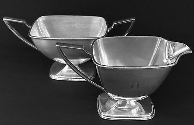 ANTIQUE SILVERPLATE PAIRPOINT SHEFFIELD W.M.MOUNTS CREAMER & SUGAR c 1880 - 1929