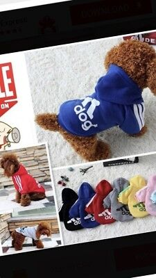 Casual Winter Adidog Pets Dog Clothes Warm Hoodie Coat Jacket Clothing