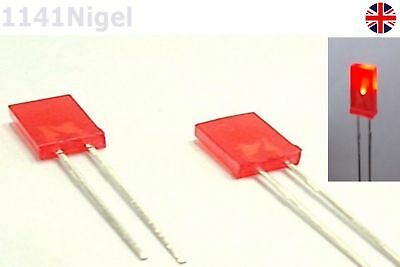 Liteon LTL-433CR  Flat Diffused LED Red 5mm x 2mm 15 pieces MBA009b