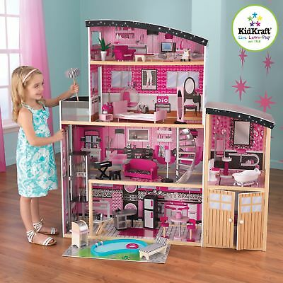 Kidkraft Sparkle Mansion Dollhouse Large Girls Woode Dolls House