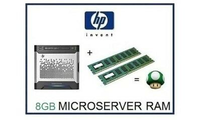 8GB -2x4GB DDR3 ECC Memory Ram Upgrade for HP / HPE ProLiant Gen8 Microserver