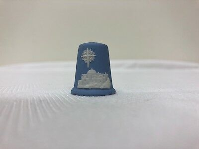Wedgwood Blue Jasperware Christmas Thimble, Star of Bethlehem, 1988