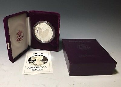 1986 S Silver American Eagle One Dollar Proof Coin W/ Coa
