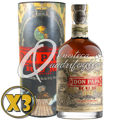3 Don Papa Rum Aged In Oak Philippines 7 Anni Limited Edition Box Italy
