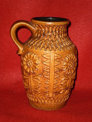 Bay Keramik 258-20 West Germany Mid Century Art Pottery Jug Vase 8 inches