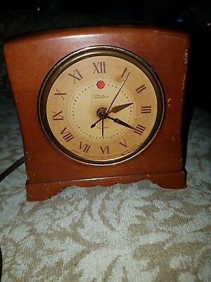 TELECHRON WORKING 1940's  Mantel Alarm Clock  model 7H119 electric vintage