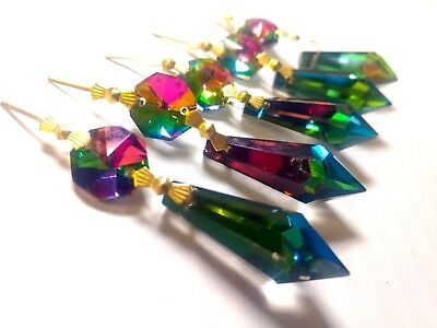 5 Vitrail Rainbow Icicle 38mm Chandelier Crystal Prism Ornaments