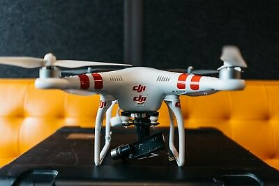 DJI Phantom 2 with extra battery, props, remote, and zenmuse gimbal