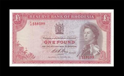 1968 Bank Of Rhodesia 1 Pound Qeii **rare** (( Ef ))