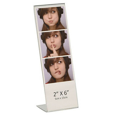 """Dazzling Displays Acrylic 2"""" x 6"""" Slanted Photo Booth Picture Frames"""