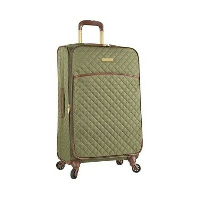 """Anne Klein Women's   Bellevue 25"""" Expandable Spinner Olive Quilted Size OSFA"""
