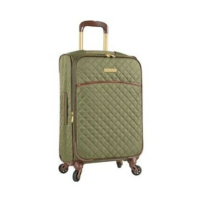 """Anne Klein Women's   Bellevue 21"""" Expandable Spinner Olive Quilted Size OSFA"""
