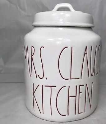 "Rae Dunn ""MRS CLAUS'S KITCHEN"" Christmas 2018 Canister LARGE LETTER!"