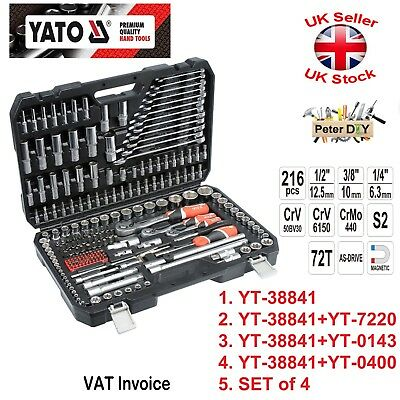 Yato Professional 216 pcs RATCHET SOCKET SET 1/2 1/4 3/8 YT-38841 + VARIOUS SETS