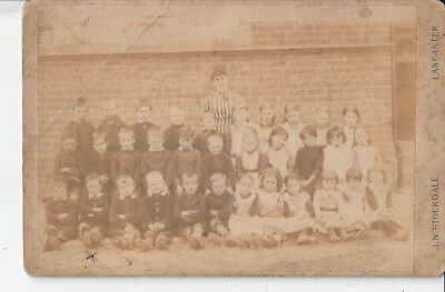 School Class by Stockdale of Lancaster Vintage Photograph