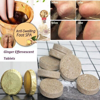 2/10/20X Natural Herbal Ginger Extract Foot Bath Detox Spa Massage Toxin Removal
