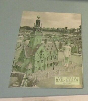 1954 Madurodam Holland Miniature Town Travel Guide The Hague Netherlands 16pg