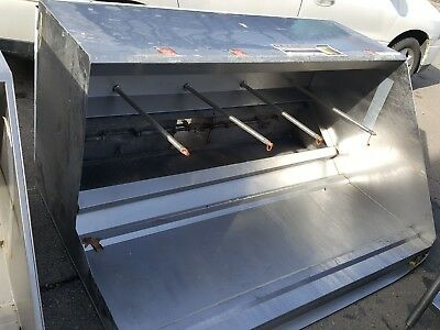 """63"""" HOOD with 4 Pre-piped ANSUL Restaurant Grease Class 1 - USED"""