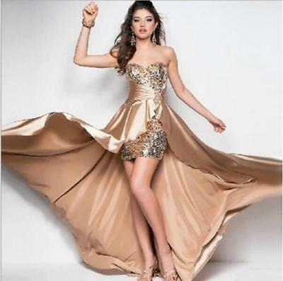 Fashion Ladies Sequins Sleeveless Party Evening Wedding Bridesmaid Dress Gown