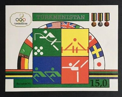 Turkmenistan Stamp, #23 S/S MNH, 1992 Olympics Y5/19