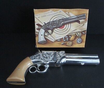 "Vintage Avon Canada ""volcanic Repeating Pistol""    Decanter Bottle W/box  -Empty"
