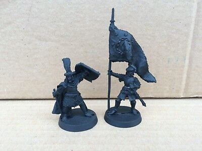 Arnor Command Captain Banner Bearer metal LOTR Lord of the Rings Warhammer
