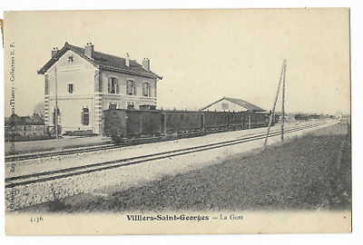 Cpa 77 / Villiers St Georges / La Gare  - Train