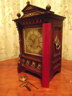 Antique bracket clock  Lenzkirch  ting tang german mantle clock to restore