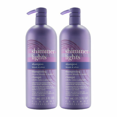 Clairol Professional Shimmer Lights Blonde Silver Shampoo 31.5 oz (2 Pack)