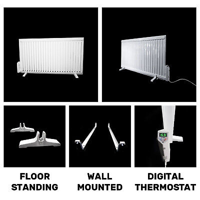 700W-2000W Oil Filled Electric Radiator Heater Wall Mounted with LCD Thermostat