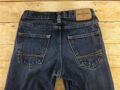 Abercrombie & Fitch Horton Jeans Boys 12 Slim Button Fly Classic Straight Dark
