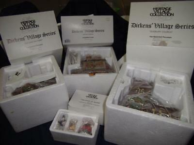 Dept. 56 Heritage Village Collection 4 Dickens' Village Series Pieces