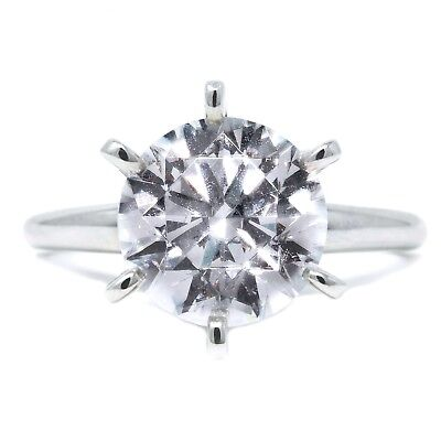 3 Ct Round Cut Diamond Solid 14k White Gold Solitaire Engagement Promise Ring