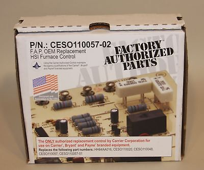 Carrier Bryant Payne CES0110057-02 / ICM281 Furnace Control Circuit Board NEW