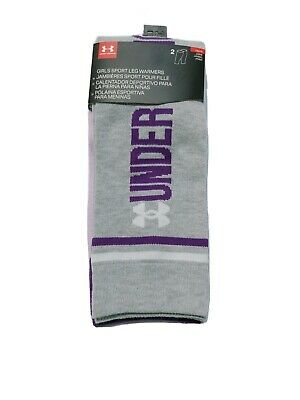 UNDER ARMOUR Big Girls' 2-PACK/PAIR Youth Sport Leg Warmers (GRAPE/GRAY) NWT!
