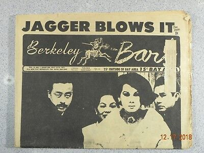 Berkeley Barb # 309,1971 Underground Jagger Blows It Rosemary & Timothy Leary