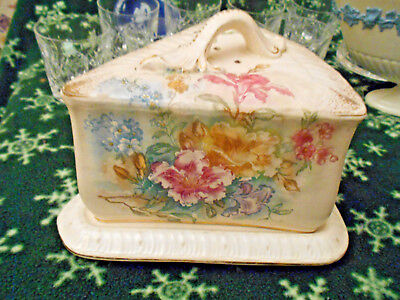 Antique Royal Bonn Franz Anton Mehlem Victorian Cheese Butter Dish~Lovely 1890's