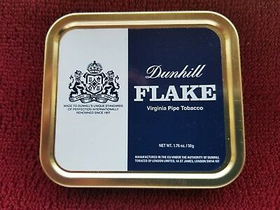 DUNHILL FLAKE **SEALED AND UNOPENED** 1.76 oz  RARE SQUARE COLLECTIBLE TIN