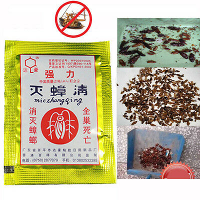 10Pc Cockroach Roach Killing Bait Powders Pest Home Killer Insecticide Trap
