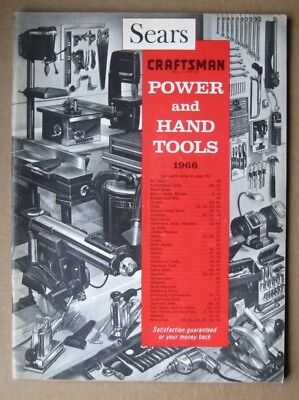Original Vintage ( 1966 ) SEARS CRAFTSMAN Power and Hand Tools Catalog 99 pages