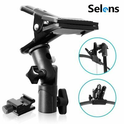 Selens Clip Clamp Holder Bracket for Reflector Stand Umbrella Flash Background