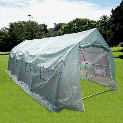Green House 20'x10'x7' Garden Plant Walk-In Greenhouse Grow Flower Yard Shade