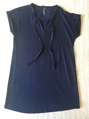 EUC Thyme Maternity M Medium Top T Short Sleeve Navy