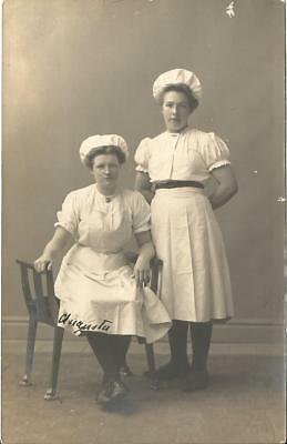 RPPC Lady Bakers ANTIQUE REAL PHOTO POSTCARD