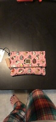 NWT 2018 Pink Disney Dogs Dooney & Bourke Foldover Crossbody