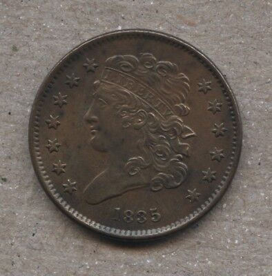1835 Classic Head Half Cent C2 Uncirculated+SUPER NICE COIN+