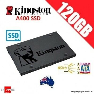 Kingston SSD 120GB A400 Solid State Drive SATA 3 6GB/s 500MB/s PC Laptop Gaming