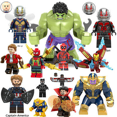 Lego Marvel Minifigures Super Heroes Deadpool Venom Avengers Building Blocks Toy